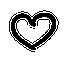 icone coeur dessin à la main